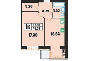 Продажа однокомнатной квартиры в Хмельницком, на ул. Панаса Мирного район Озёрный фото 2