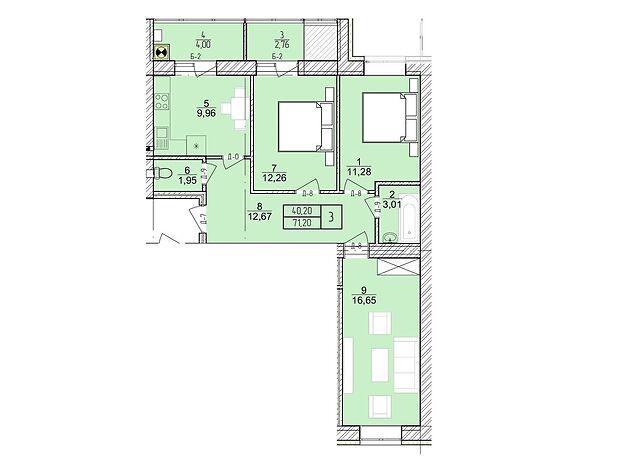 Продажа трехкомнатной квартиры в Хмельницком, на пер. Независимости район Раково фото 1