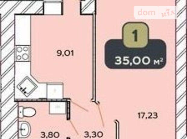 Продажа однокомнатной квартиры в Хмельницком, на ул. Нижняя Береговая 2/2В, район Центр фото 1