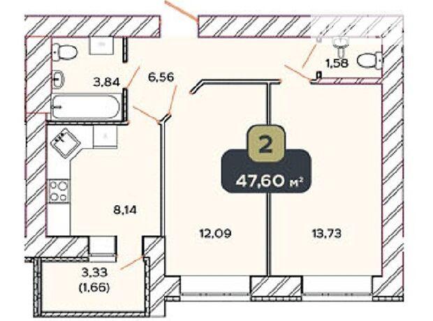 Продажа двухкомнатной квартиры в Хмельницком, на ул. Нижняя Береговая 2/2В, район Центр фото 1