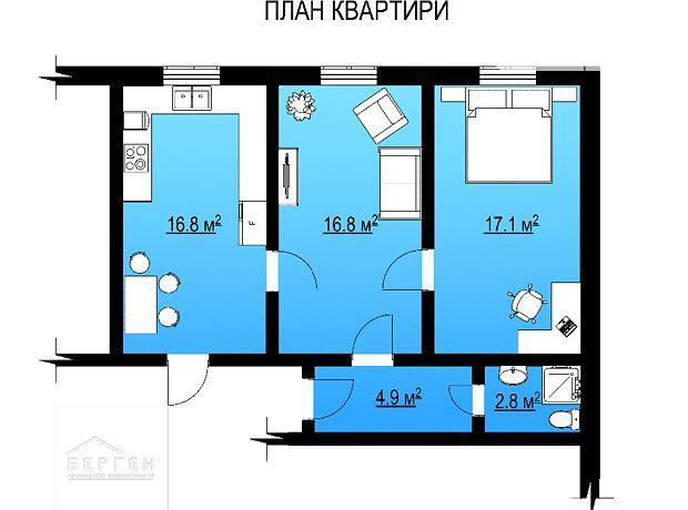 Продаж двокімнатної квартири в Іллінцях на БХмельницького район Іллінці фото 1