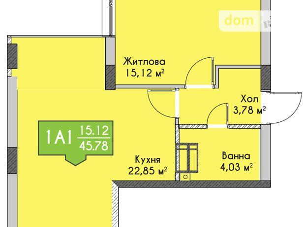 Продажа квартиры, 1 ком., Киевская, Ирпень, Чехова улица, дом 27
