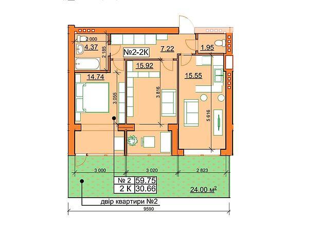 Продажа двухкомнатной квартиры в Ирпене, на ул. Молодежная район Гостомель фото 1