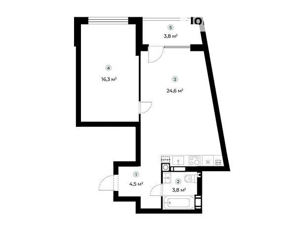 Продажа однокомнатной квартиры в Ирпене, на ул. Охотничья район Гостомель фото 1