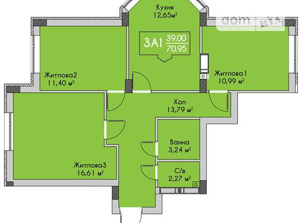 Продажа квартиры, 3 ком., Киевская, Ирпень, р‑н.Ирпень, Чехова улица, дом 27
