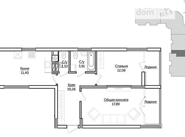 Продажа квартиры, 2 ком., Киевская, Ирпень, р‑н.Ирпень, Гостомельское шоссе