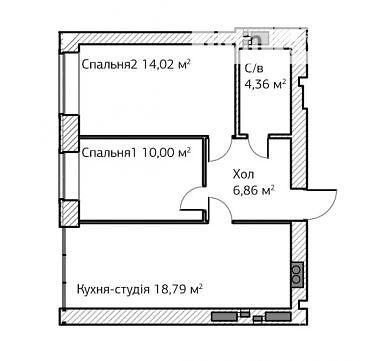 Продажа квартиры, 2 ком., Киевская, Ирпень