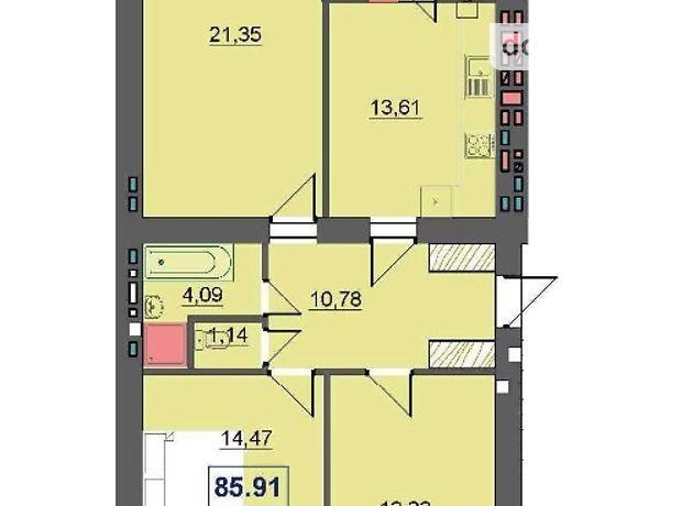 Продажа трехкомнатной квартиры в Ивано-Франковске, район Бам фото 1