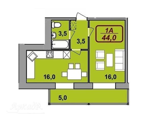 Продажа однокомнатной квартиры в Ивано-Франковске, на ул. Сеченова район Ивасюка Надречная фото 1