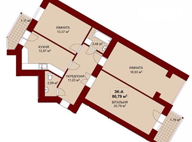 Продажа квартиры, 3 ком., Ивано-Франковск, р‑н.Коновальца Чорновола