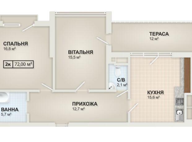 Продаж двокімнатної квартири в Івано-Франківську на вул. МазепиГетьмана 6,, кв. 27, район Центр фото 1