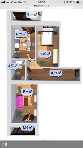 Продажа квартиры, 2 ком., Ивано-Франковск, р‑н.Центр, Снежная улица, дом 52
