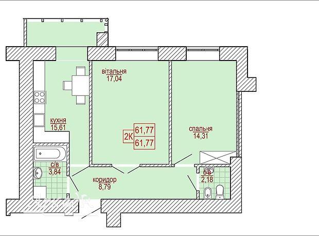 Продажа двухкомнатной квартиры в Ивано-Франковске, на ул. Сеченова 129А, район Угорники фото 1