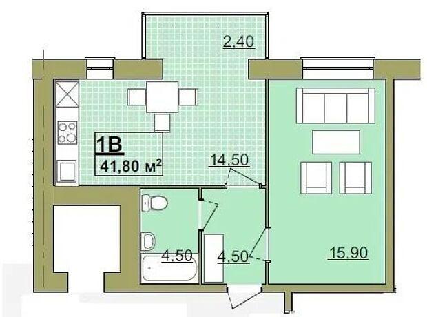 Продажа однокомнатной квартиры в Ивано-Франковске, на ул. Высочана Семена 18, фото 2
