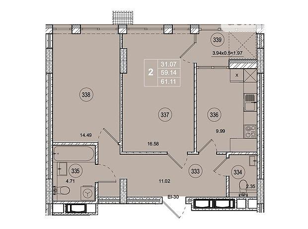 Продажа двухкомнатной квартиры в Житомире, на ул. Котовского район Богунский фото 1