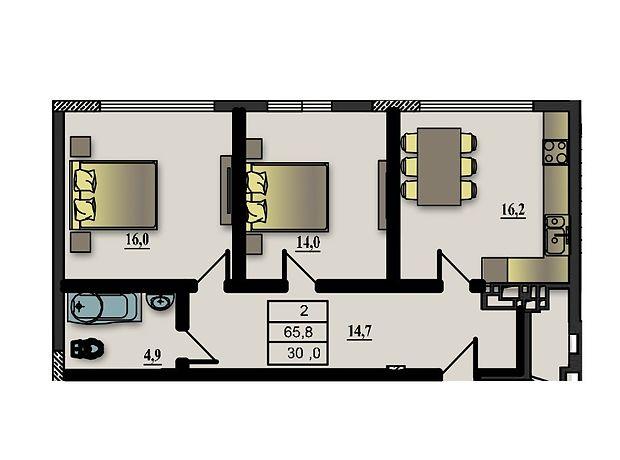 Продажа двухкомнатной квартиры в Житомире, на ул. Победы 53, район Богунский фото 1