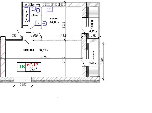Продаж квартири, 1 кім., Житомир, р‑н.Богунський
