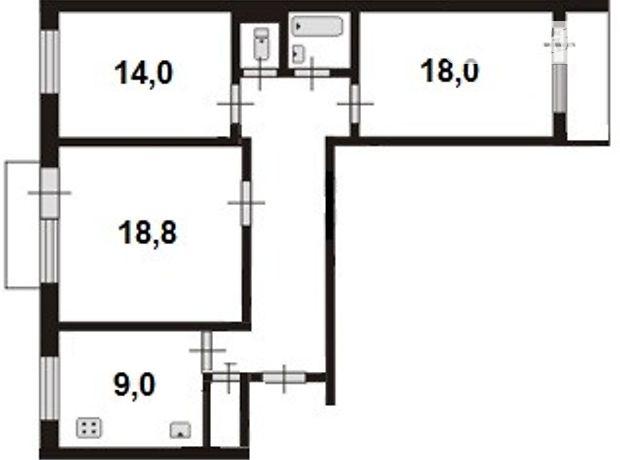 Продажа квартиры, 3 ком., Житомир, р‑н.Богунский