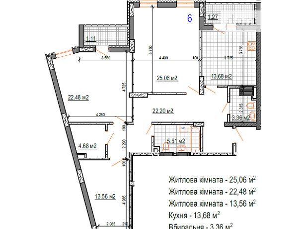 Продажа трехкомнатной квартиры в Житомире, на проспект Независимости 29, район Гормолзавод фото 1