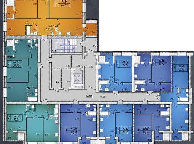 Продажа квартиры, 1 ком., Житомир, р‑н.Корбутовка, Черняховского улица, дом 113