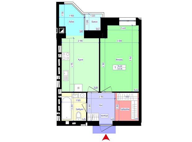 Продажа однокомнатной квартиры в Житомире, на ул. Черняховского район Корбутовка фото 1