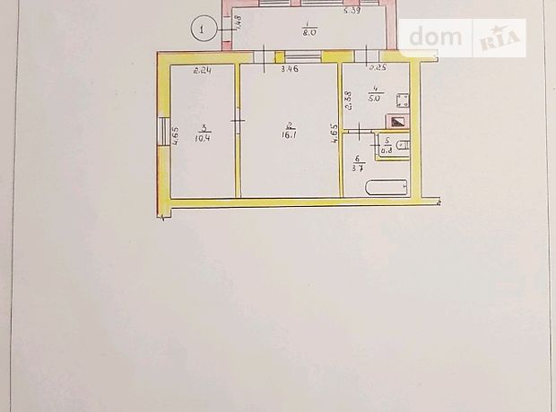 Продажа двухкомнатной квартиры в Житомире, район Королевский фото 1