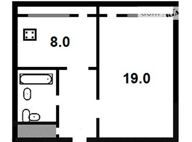 Продажа квартиры, 1 ком., Житомир, р‑н.Центр, Леваневского улица