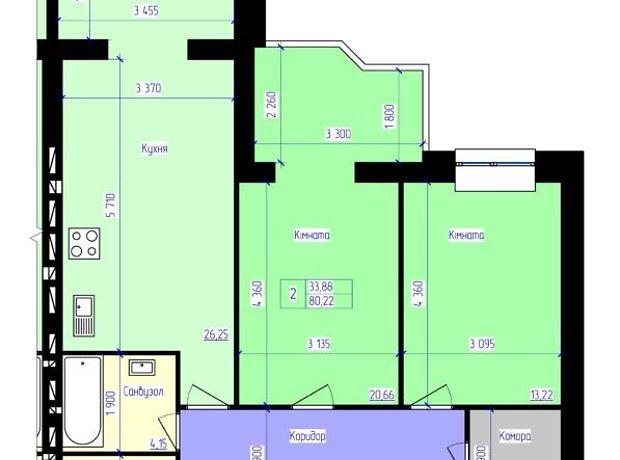 Продаж двокімнатної квартири в Житомирі на вул. Синельниківська 14, район Центр фото 1