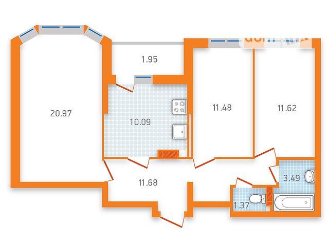 Продаж квартири, 3 кім., Киев, р‑н.Дарницький, ул. Бориспольская, 40