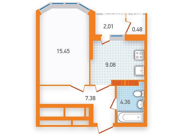 Продаж квартири, 1 кім., Киев, р‑н.Дарницький, ул. Бориспольская, 40