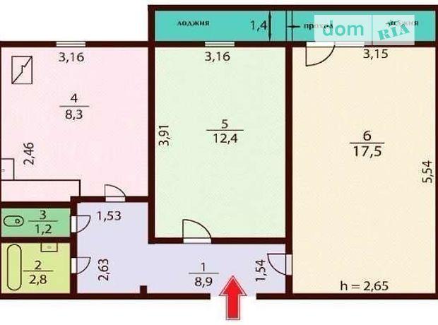 Продажа квартиры, 2 ком., Киев, р‑н.Деснянский, Бальзака Оноре де улица, дом 98/29