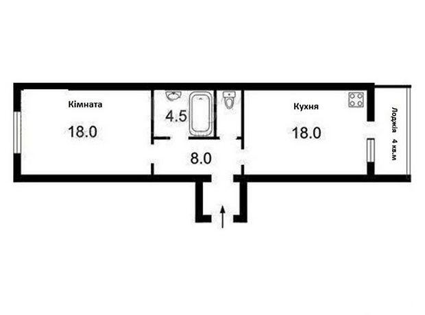 Продаж квартири, 1 кім., Київ, р‑н.Деснянський, Лісківська вулиця, буд. 32/51