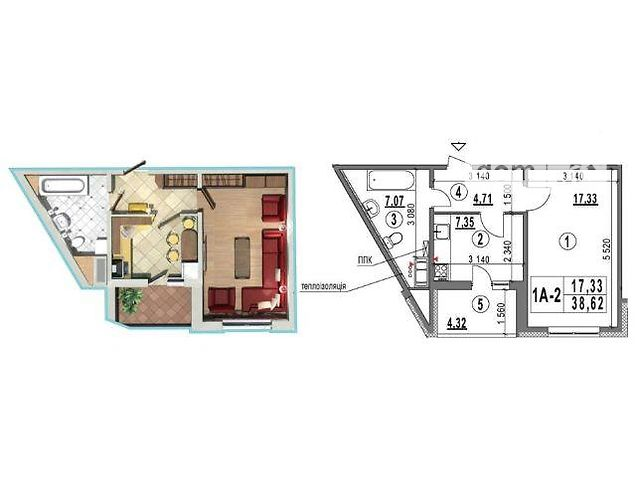 Продаж квартири, 1 кім., Киев, р‑н.Голосіївський, Глушкова Академика пр-т, 6