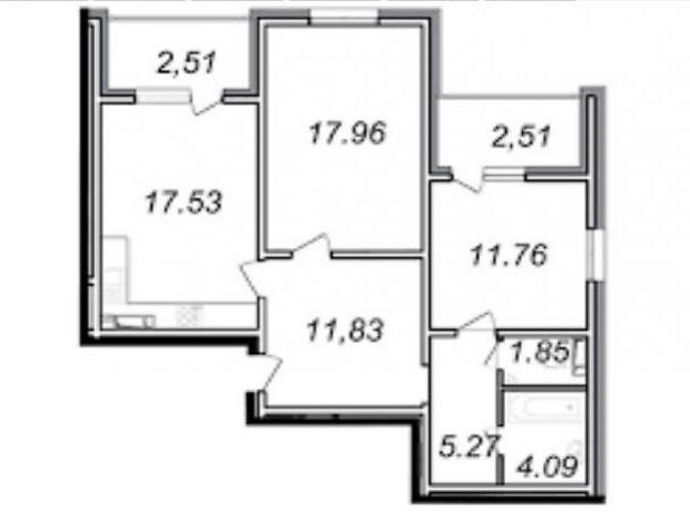 Продажа квартиры, 2 ком., Киев, р‑н.Голосеевский, ст.м.Лыбедская, Ясиноватский переулок, дом 11
