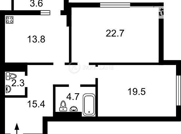 Продажа квартиры, 2 ком., Киев, р‑н.Печерский, Анри Барбюса улица, дом 53