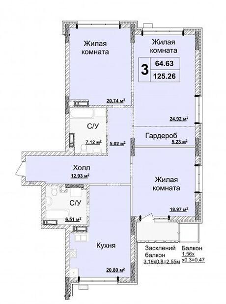 Продажа трехкомнатной квартиры в Киеве, на ул. Драгомирова 70, район Печерский фото 1