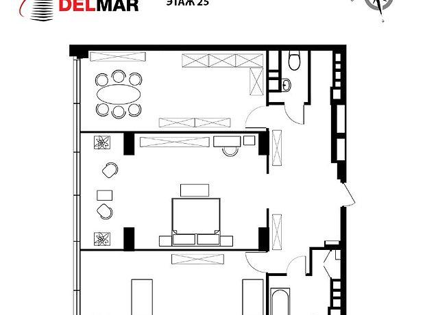 Продажа двухкомнатной квартиры в Киеве, на ул. Драгомирова 4Б район Печерский фото 1