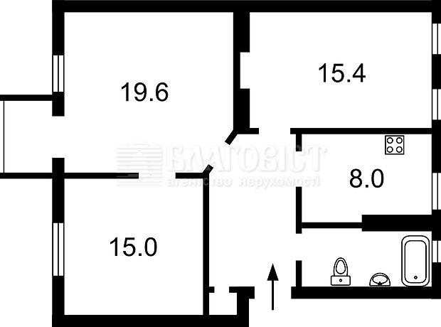 Продажа квартиры, 3 ком., Киев, р‑н.Шевченковский, Тургеневская улица, дом 48