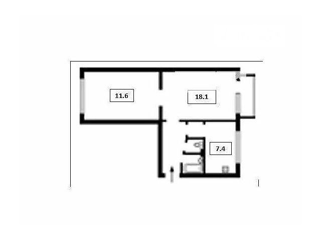 Продаж квартири, 2 кім., Киев, р‑н.Соломенський, ст.м.Дворец спорта, Соломенская ул.