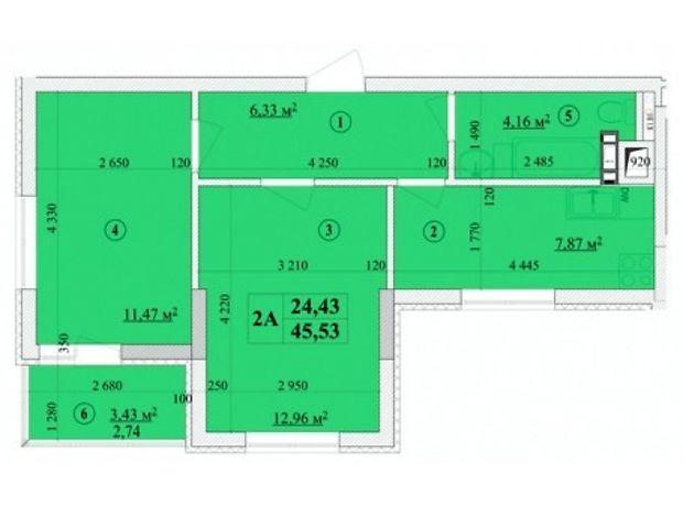 Продажа двухкомнатной квартиры в Киеве, на ул. А. Волошина 32а, район Соломенский фото 1