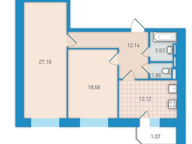 Продаж квартири, 2 кім., Киев, р‑н.Святошинський, ст.м.Житомирская, бульв. Академика Вернадского, 24