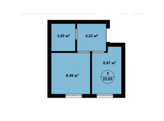Продажа однокомнатной квартиры в Киево-Святошинске, район Крюковщина фото 1