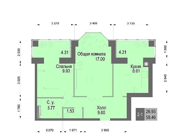 Продажа квартиры, 2 ком., Киевская, Киево-Святошинский, c.Софиевская Борщаговка, Соборна, дом 126