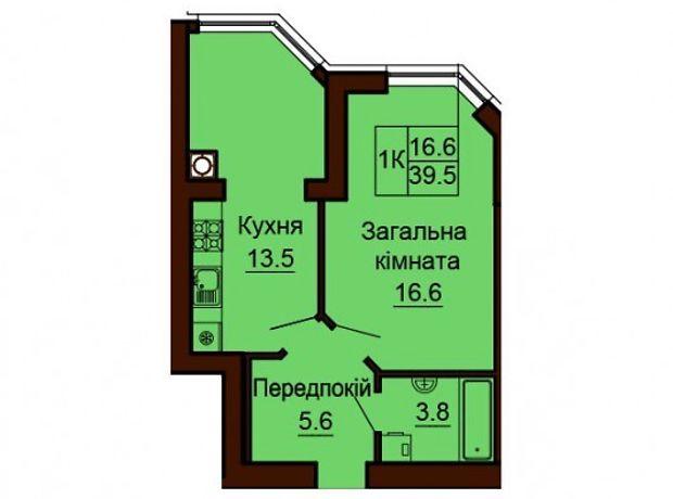 Продажа квартиры, 1 ком., Киевская, Киево-Святошинский, c.Софиевская Борщаговка, Счастливая, дом 20
