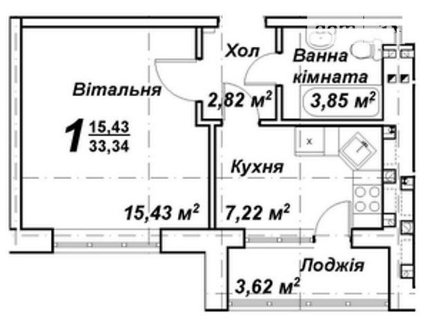 Продажа квартиры, 1 ком., Киевская, Киево-Святошинский, c.Крюковщина, Подольская , дом 10