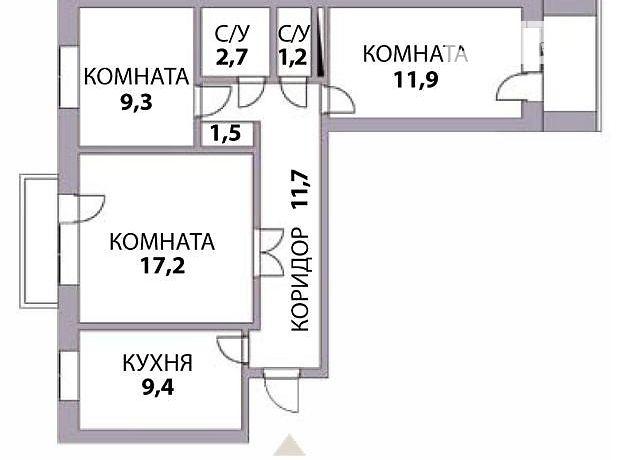 Продаж квартири, 3 кім., Кіровоград, р‑н.Пацаєва, Волкова вулиця