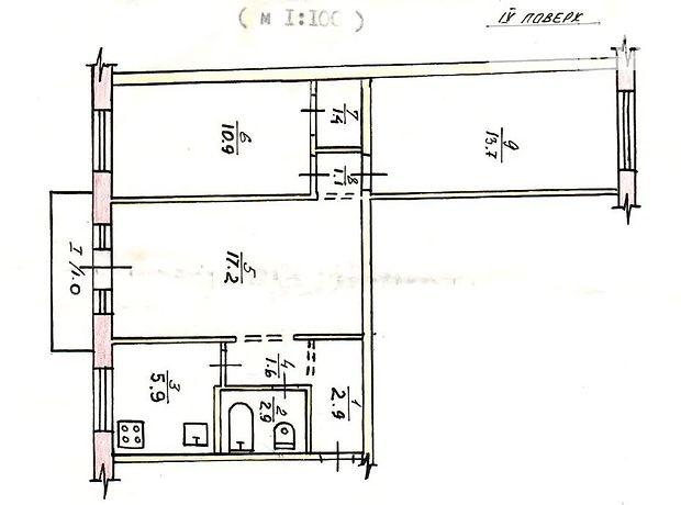 Продаж трикімнатної квартири в Кривому Розі на Седнева проспект 27, район Інгулецький фото 1