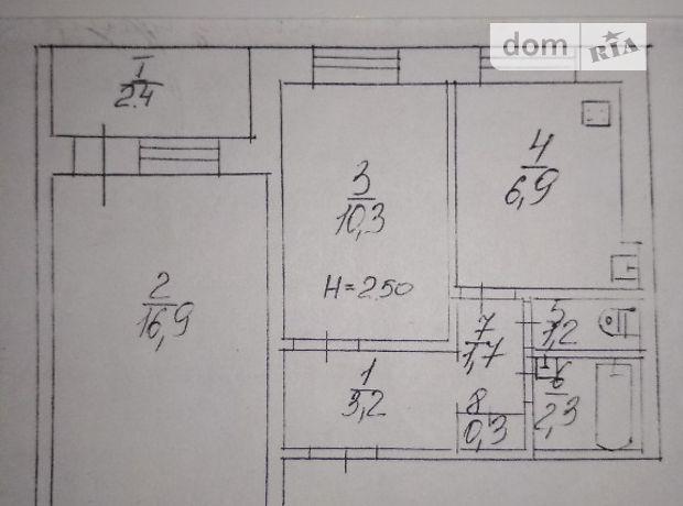 Продажа квартиры, 2 ком., Днепропетровская, Кривой Рог, р‑н.Жовтневый, Косыгина улица, дом 20