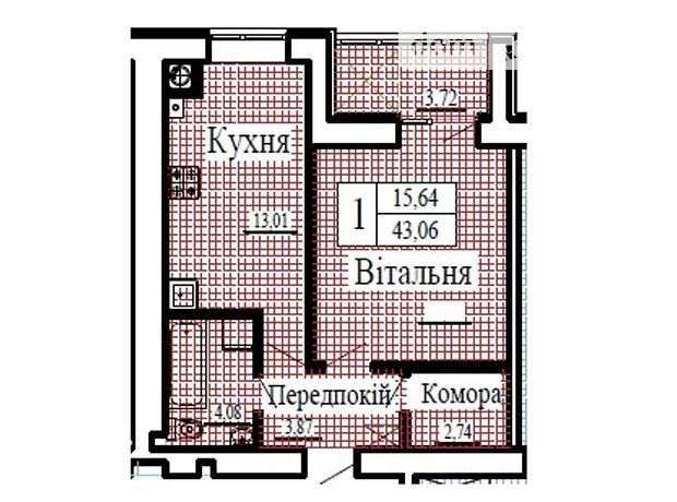 Продажа однокомнатной квартиры в Луцке, на ул. Даньшина район Гнидава фото 1
