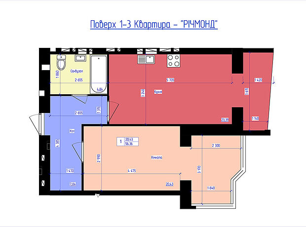 Продаж однокімнатної квартири в Луцьку на вул. Володимирська район Великий Омеляник фото 1